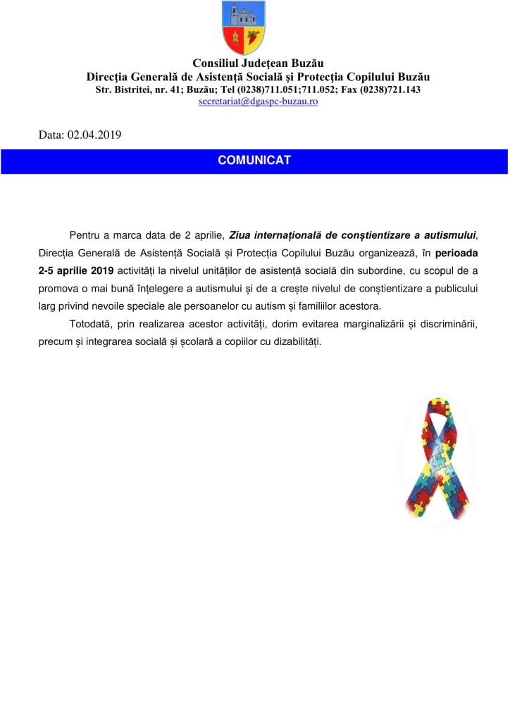 Comunicat de presa autism 2019-1